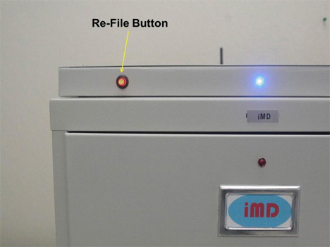 iMD filing system re-file button