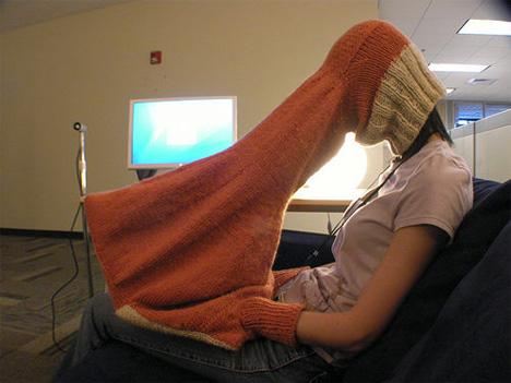 weird laptop privacy sock