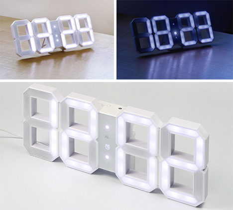 Minimalist Clock Is Just The Digits And Nothing But The