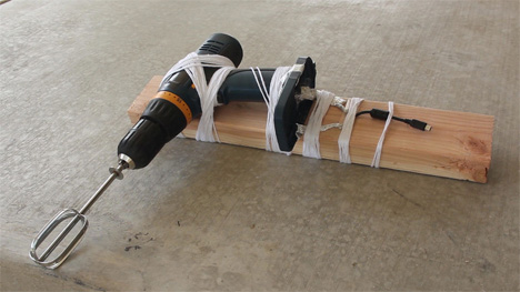 homemade hand crank phone charger
