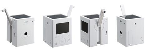 solar and kinetic powered digital camera