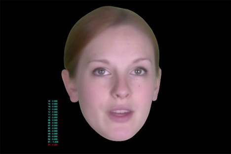 talking text message head Emotion Expressing Visage to Turn Texting on its Head