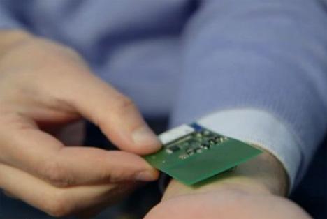 wireless under skin health monitor