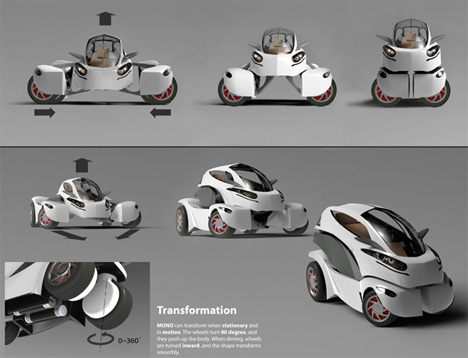 awesome transforming electric car