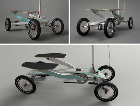 customizable stepping scooter