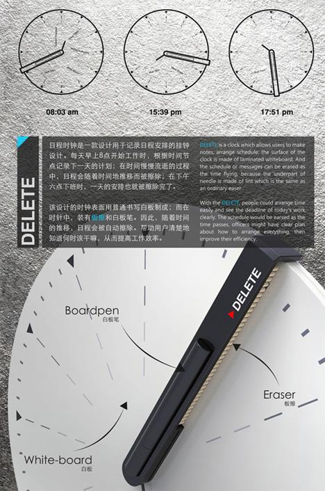 delete erasing clock concept