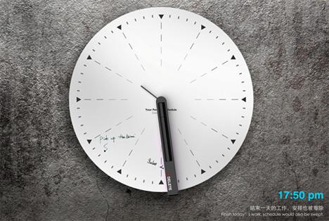 erasable whiteboard clock