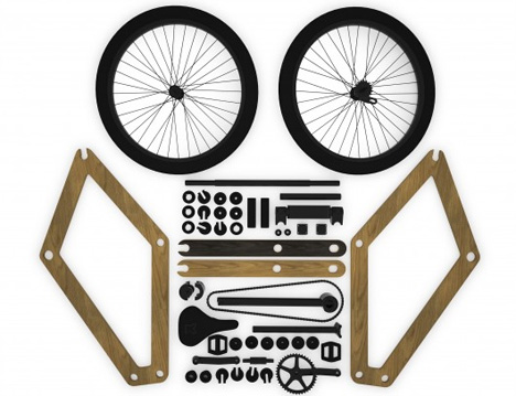 flat pack self assemble bike