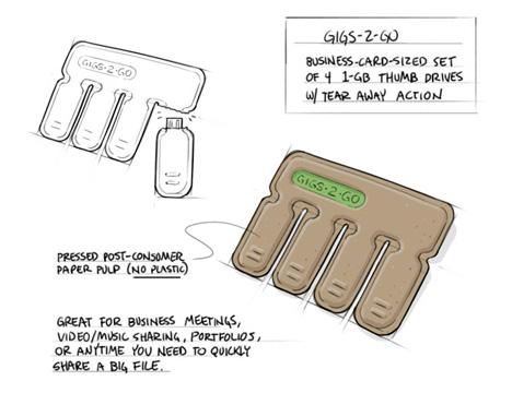 gigs2go tear and share flash drives