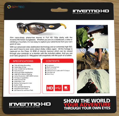 inventio recording sports sunglasses