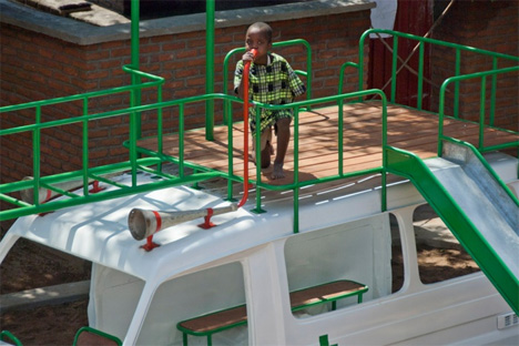 malawi hospital ambulance playground