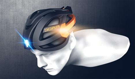 multi-lights DORA bike helmet