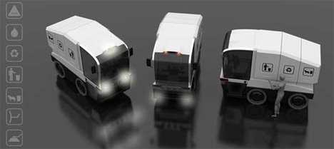 multifunctional city crews vehicle