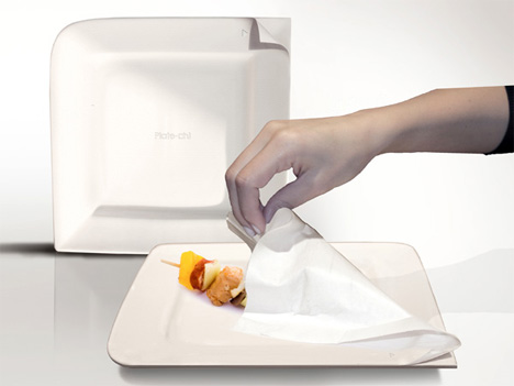 peel off layers disposable paper plates