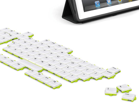 puzzle keyboard design concept
