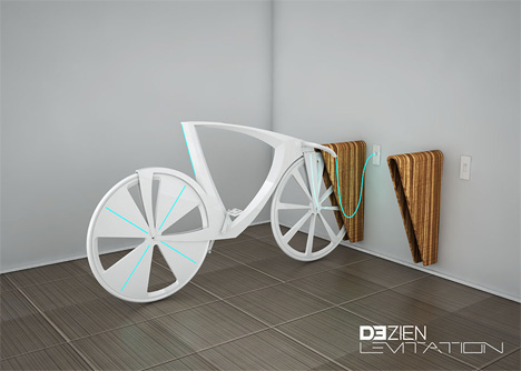 energy generating levitation bike