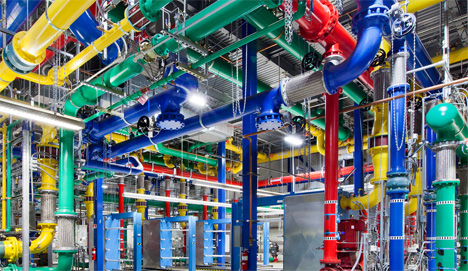 google's colorful pipes