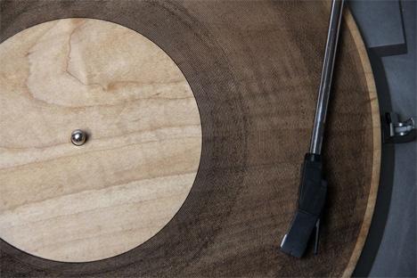 laser cut wood records