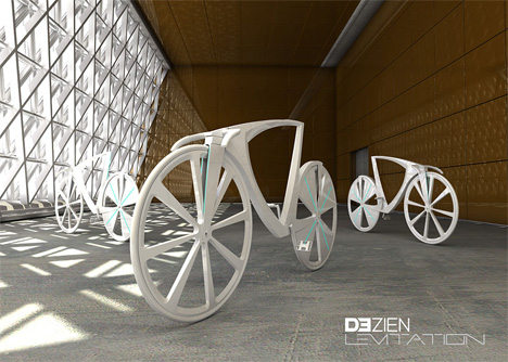 levitating energy generating bike