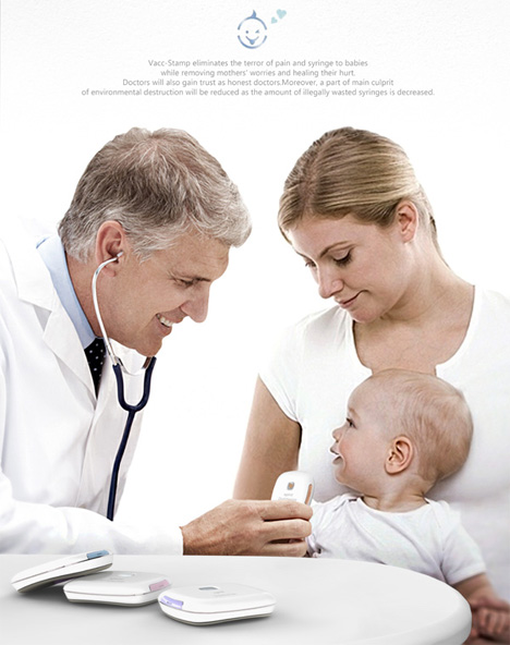 painless immunization concept for babies