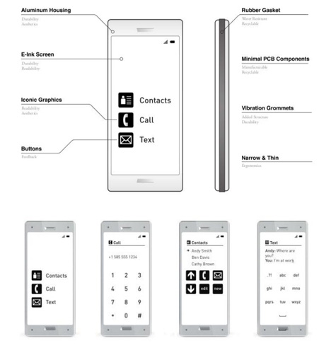 simplified cell phone