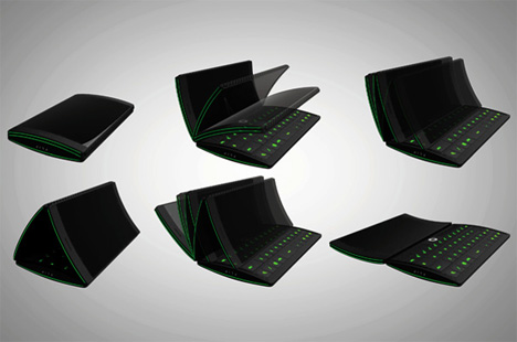 transforming three screen flip phone concept
