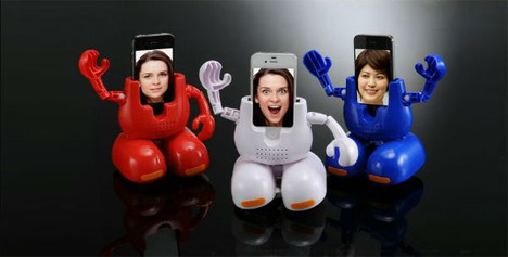 dancing iphone stand