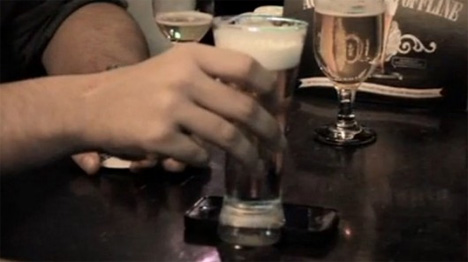 glass prevents iphone use at bar