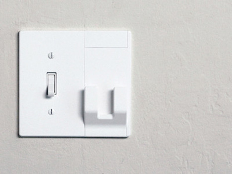 key and mail hanger light switch