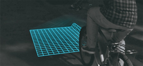 lumigrids bike safety projector
