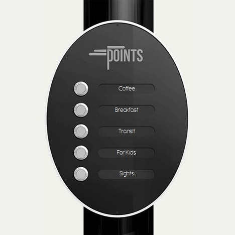 points sign menu