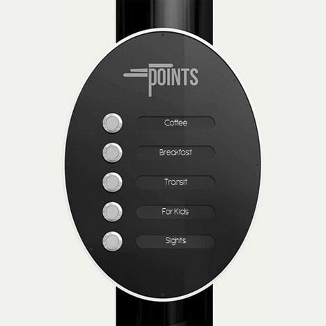 points sign menu
