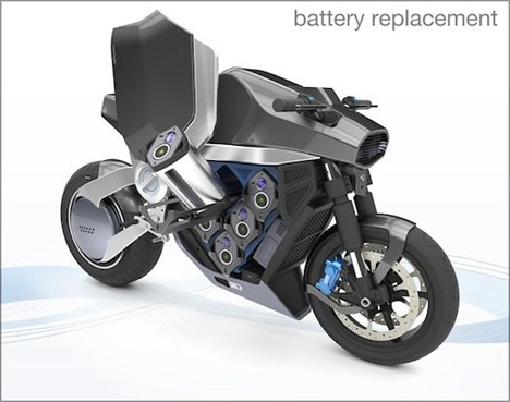 quick charging electric motorcycle