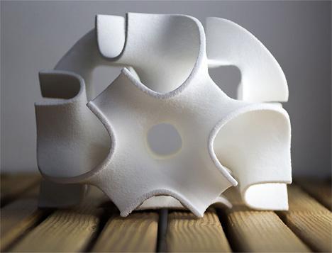 3d printed sculptures made of sugar