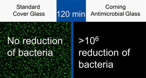 bacteria reducing gorilla glass