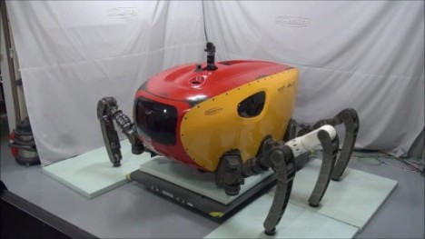 crab-like underwater exploration robot