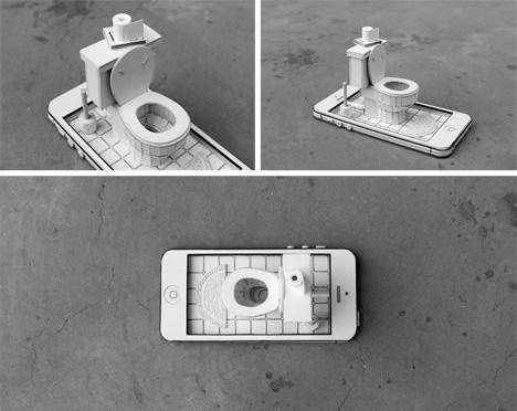 ordinary behavior iphone toilet