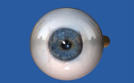 solar powered retinal implant