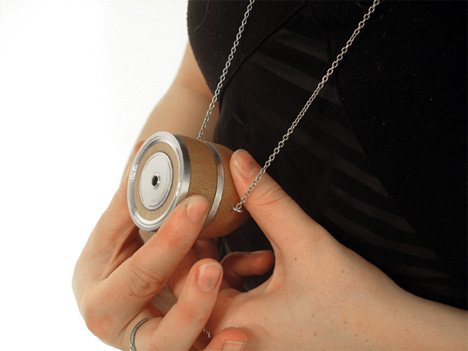 Sneaky spy camera doubles as a piece of chunky jewelry gadgets twitch camera necklace mozeypictures Gallery