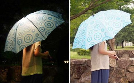 bright night lighted umbrella