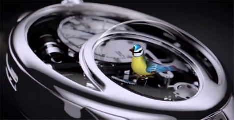 charming bird automata watch