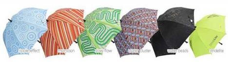 colors and patterns bright night umbrella