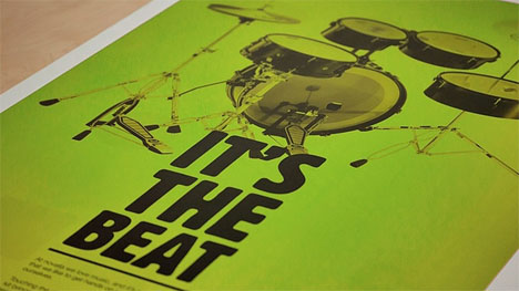 drum kit musical poster