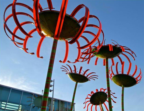 seattle sonic boom outdoor singing flowers installation art