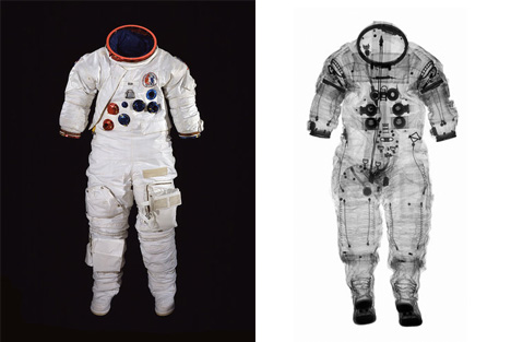 smithsonian exhibit spacesuit x-rays