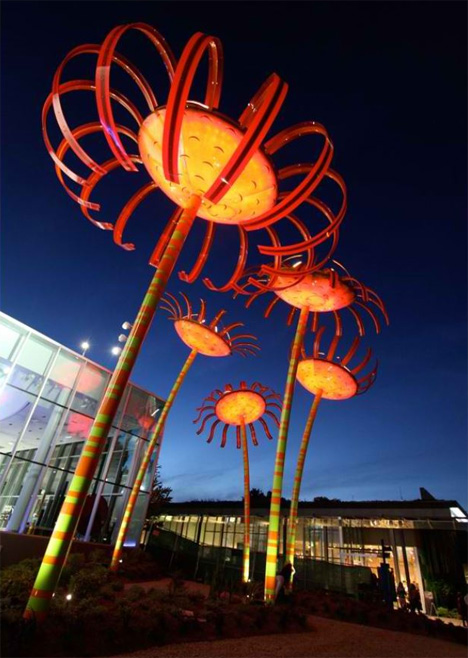 sonic bloom outdoor art installation