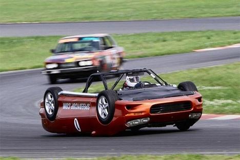 speedycop upside down racing camaro