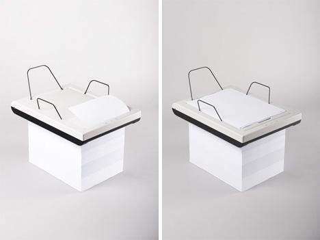 stack paper-chomping printer