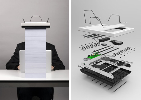 stack printer exploded view