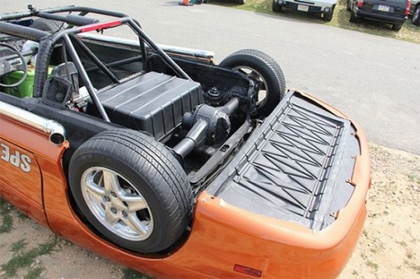 upside down racecar